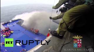 Passengers rescued from burning Greek ferry
