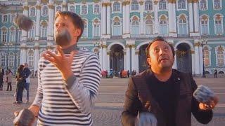 Уроки жонглирования булыжниками для Узбекистана.