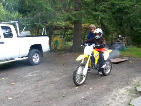 8 year old on RML85 Dirt Bike - YouTube