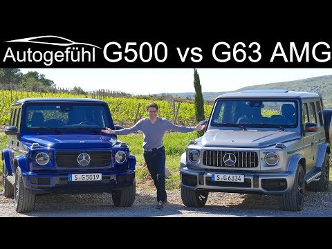 Mercedes G-Class G500 vs G63 AMG FULL REVIEW comparison test
