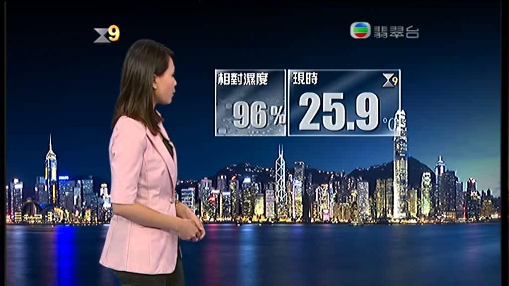 天氣報告 23July2012 9號颱風訊號 - YouTube