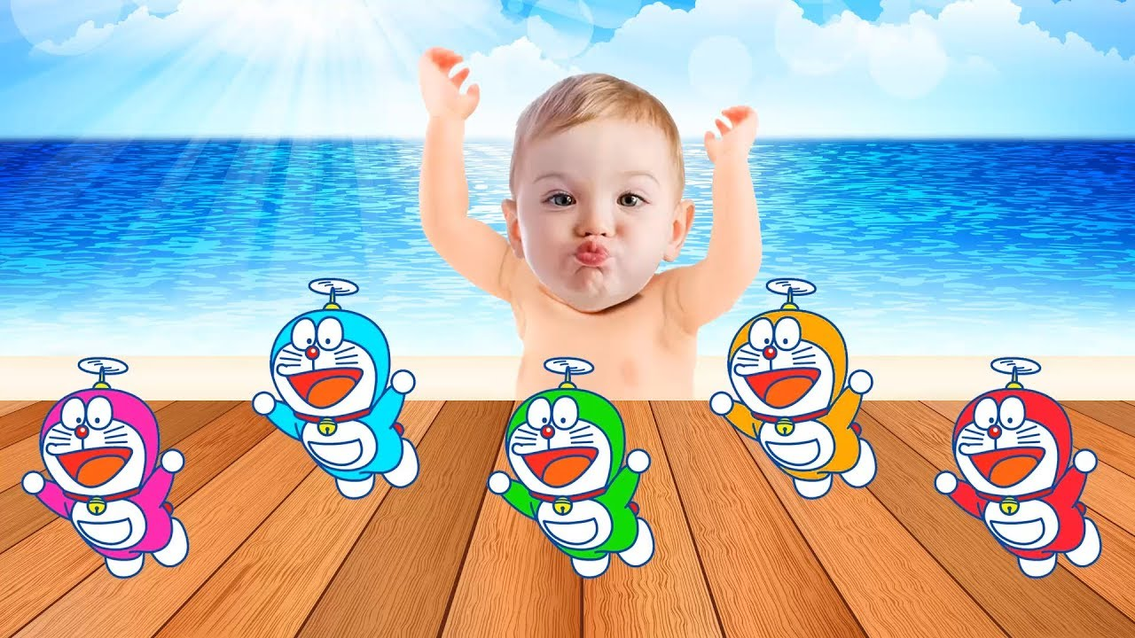 Bad Baby Crying & Learn colors With Doremon, Songs Finger Family Nursery Rhymes Songs
