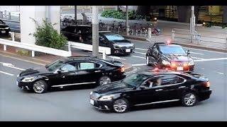 なんと11台!! レクサス覆面パト車列がお台場で豪快に転回!! Tokyo Police Special Escort Group Lexus 600hl