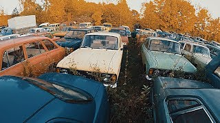 Semi-abandoned SOVIET and MILITARY vehicles graveyard