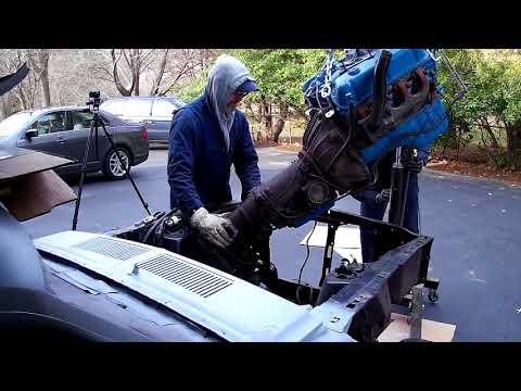 67 Mustang Restoration Engine Removal
