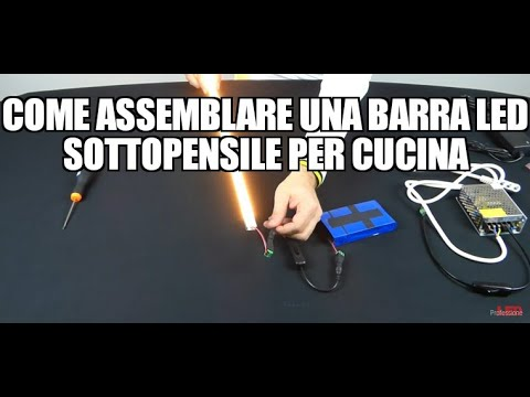 Come assemblare una barra LED sottopensile per cucina - YouTube