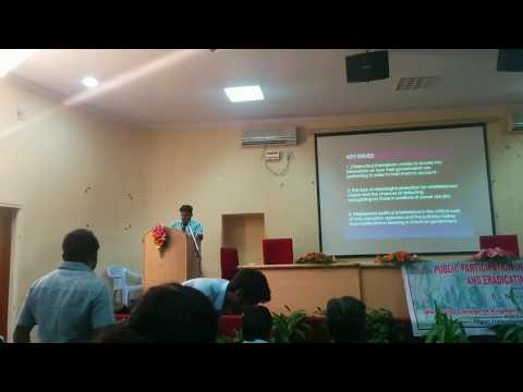 Seminar on Public Participation in Eradicating Corruption and Promoting Integrity by Nikhil Nakka