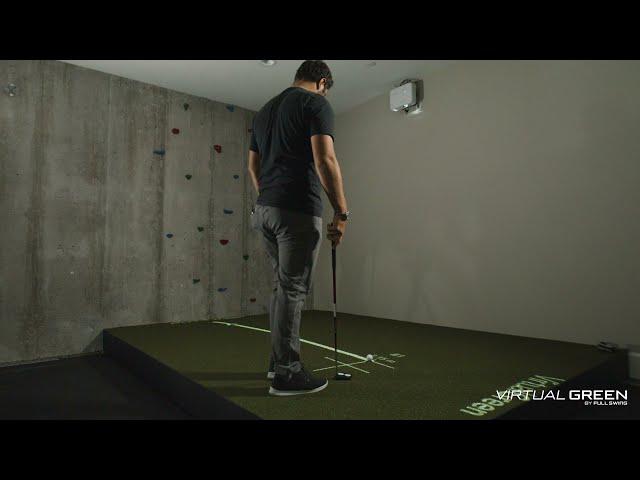 Jon Rahm Putts on His Full Swing Virtual Green at Home