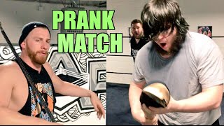 ARM RIPPED OFF PRANK WRESTLING MATCH! GRIM BEAT DOWN by CURT HAWKINS!