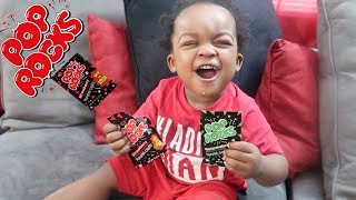 WOO WOP TRIES POP ROCK CANDY FOR THE FIRST TIME ! * HE DIDNT LIKE IT *
