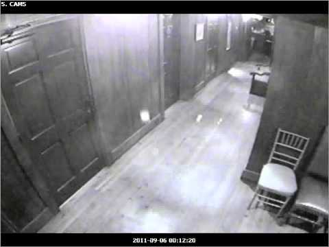 The Olde Pink House Ghost! Caught on our security camera!