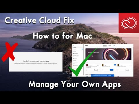How to Manage Your own Apps in Adobe Creative Cloud Fix for Mac