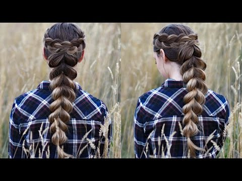 Wrapped Pull Thru Braid | Cute Girls Hairstyles