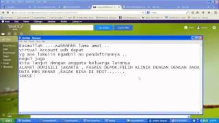 CARA DAFTAR  Online  BPJS 07   (Sukses)