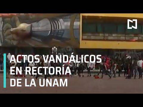 Actos vandálicos en inmediaciones de Rectoría de la UNAM