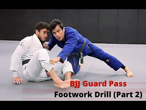 BJJ Guard Pass Footwork Drill (Part 2)