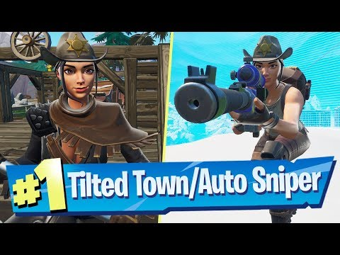 NEW Tilted Town + Automatic Sniper Gameplay - Fortnite Battle Royale