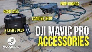 DJI MAVIC PRO DRONE: LEG RISERS. FILTERS, PROP GUARDS and HARD CASE