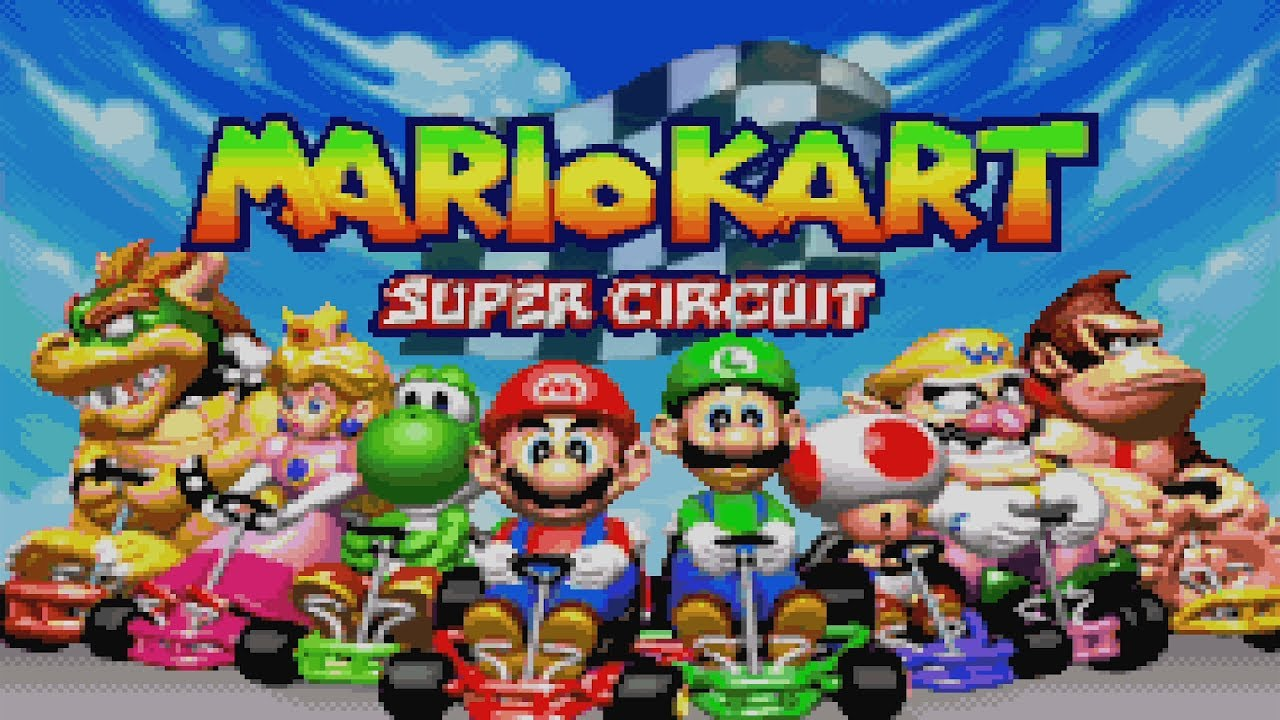 mario kart super circuit all characters youtube. Black Bedroom Furniture Sets. Home Design Ideas