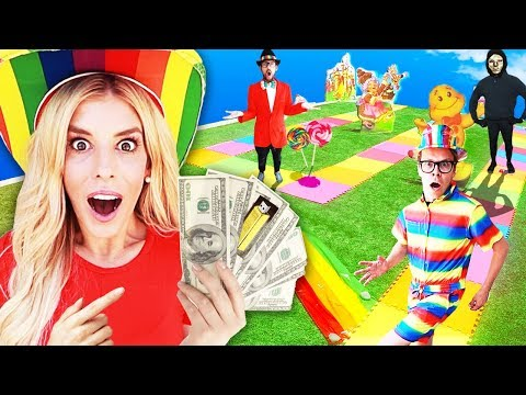 GIANT Board Game Challenge! Winner Gets $10,000 (CANDYLAND in Real Life) 🎲 Game Master