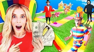 GIANT Board Game Challenge! Winner Gets $10,000 (CANDYLAND in Real Life) ???? Game Master