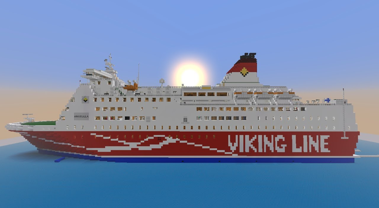 Viking Line M S Amorella In Minecraft With Download