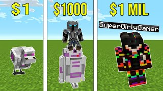 Minecraft: 1 DOLLAR VS 1,000,000 DOLLAR ROBOT!!! Crafting Mini-Game