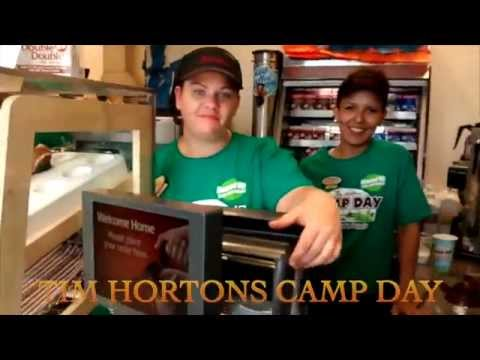 Tim Hortons Camp Day in Cornwall Ontario with Darryl Adams
