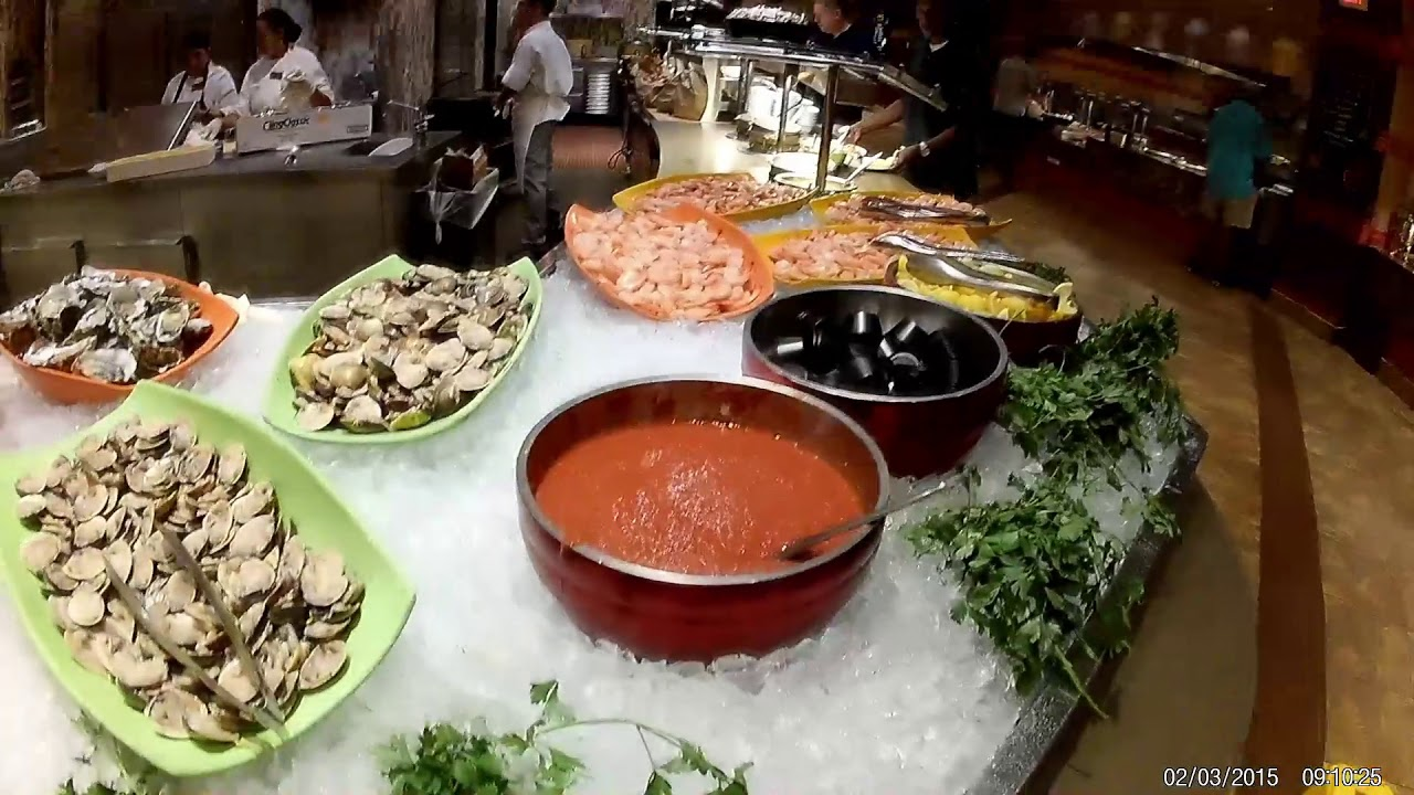 Harrah's Waterfront Atlantic City New Jersey Buffet - YouTube