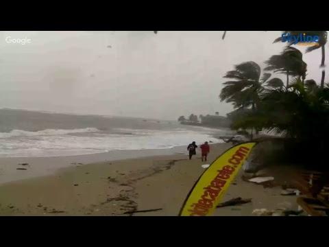 AO VIVO Furacão Irma se aproxima da República Dominicana com fortes chuvas e ventos.