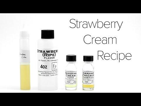 DIY E-Liquid Recipe : Strawberry Cream
