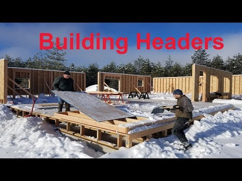 Building Headers Over Doors and Windows On Your DIY Homestead.