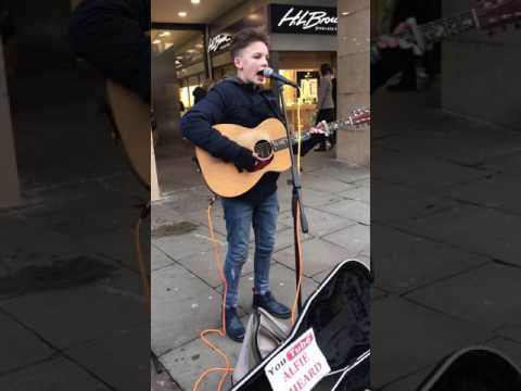 Alfie Sheard busking- Fast car Tracy chapman