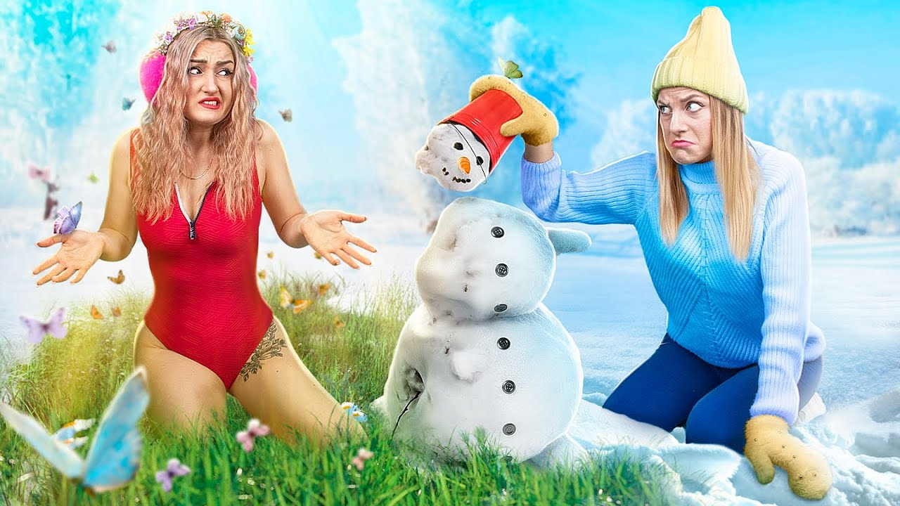 Девушка-зима VS Девушка-лето