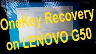 How to RUN OneKey Recovery on LENOVO G50 Laptop Windows 8, 10