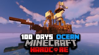I Survived 100 Days of Hardcore Minecraft In A Modded Ocean Only World... Here's What Happened