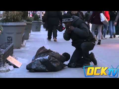 Thumbnail: Keith Kuder Freezing Social Experiment Homeless Child Facebook