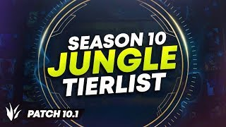 ULTIMATE SEASON 10 JUNGLE TIER LIST (HIGH/LOW ELO) | League of Legends