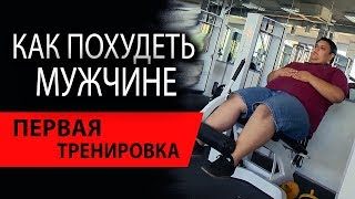 Комплекс упражнений для похудения мужчин | Первая тренировка