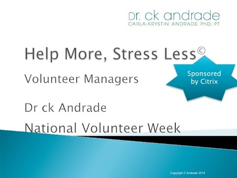 Help More, Stress Less™ for Volunteer Managers (National Volunteer Week 2015)
