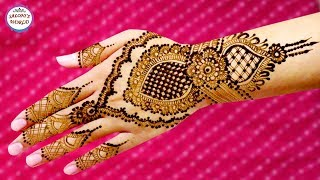 Beautiful Back Hand Arabic Henna Designs   Step By Step Henna Tutorial By Jyoti Sachdeva.