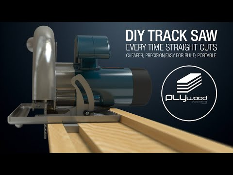 DIY Simple Circular Saw Track Saw Guide - Homemade Track Saw
