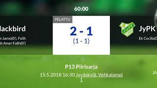 K-S P13 2018 piirisarja FC Blackbird - JyPK