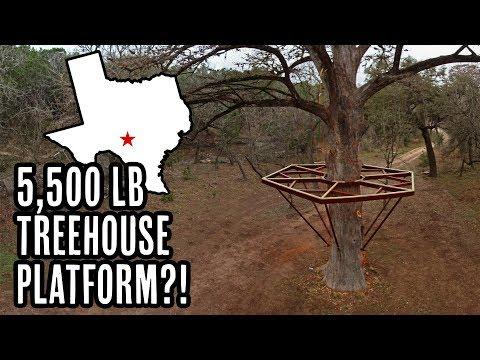 5,500lb Treehouse Platform! *Treehouse Utopia*