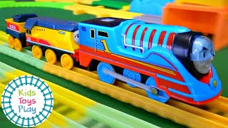 Thomas and Friends Trackmaster Turbo Speed Push Along Train Races