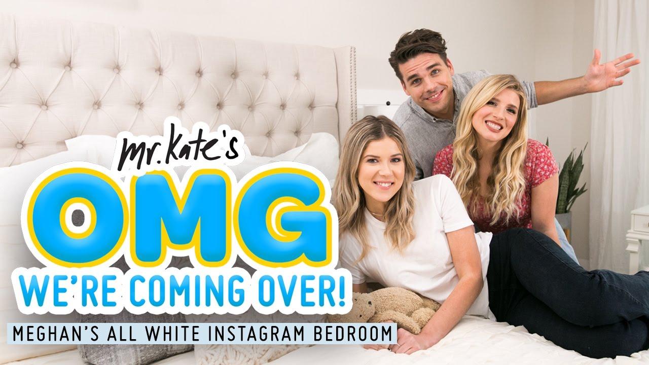 All White, Instagram Bedroom Makeover for Meghan Rienks