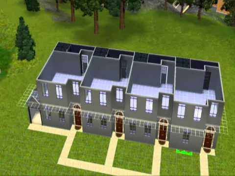 How To Build A Row Of Terraced Apartments In The Sims 3 Late Night