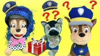 Juguetes paw patrol español: Chase! visita y regalo sorpresa para bebe cachorro de patrulla canina