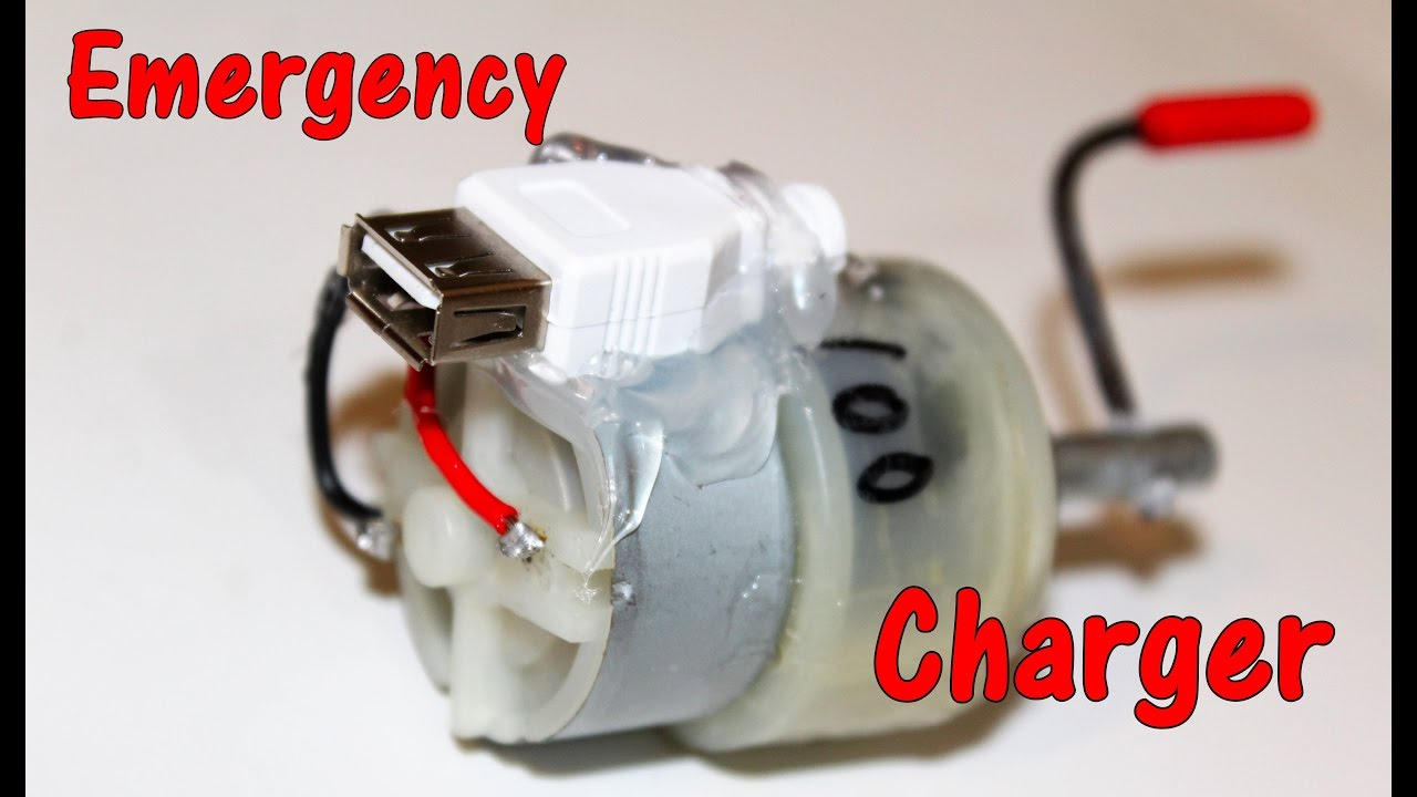 Emergency Mobile Charger Using Dc Motor Youtube Circuit And The Plain Wire Completes Speeds Up