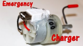 Emergency mobile charger using DC Motor